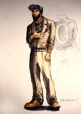 Othello Costume Rendering