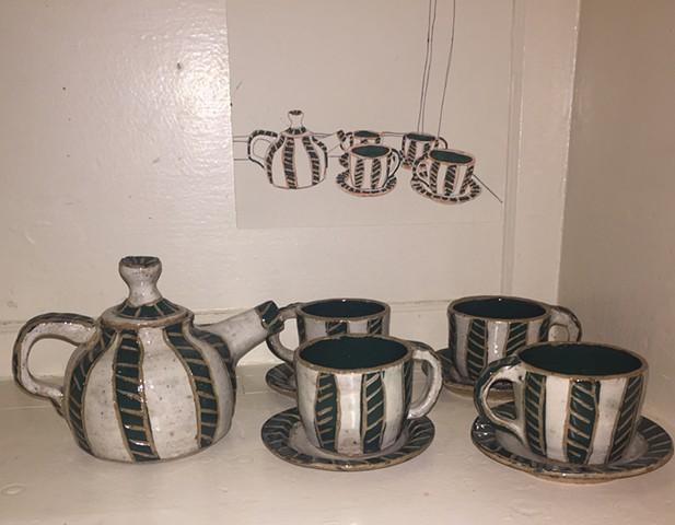 Tea Set, Drawing