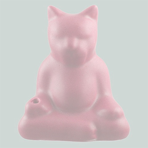 *BUDDHA CAT INCENSE HOLDER (Blush)*