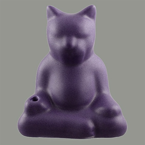 *BUDDHA CAT INCENSE HOLDER (Purple Sage)*