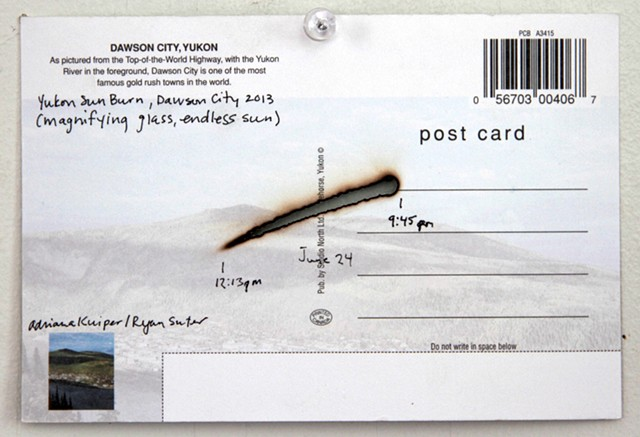 Yukon Sun Burn, Postcards (reverse)