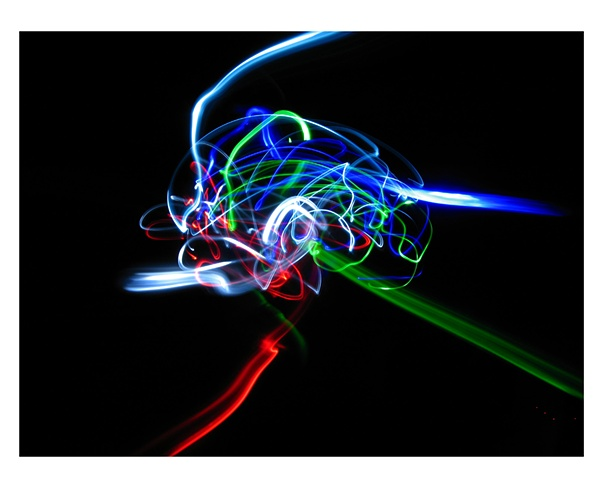 Light Drawing - The Human Brain