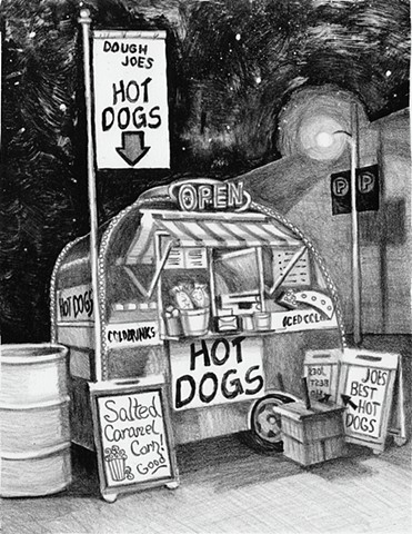 Dough Joe's hot dog hut