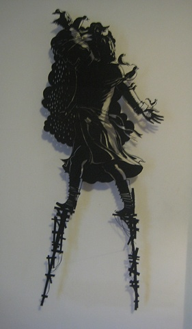 paper cut-out cut out fairy tales solo show