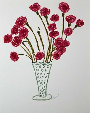 Vase with Red Flowers II
