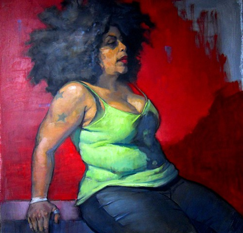 Figure in Red and Green
