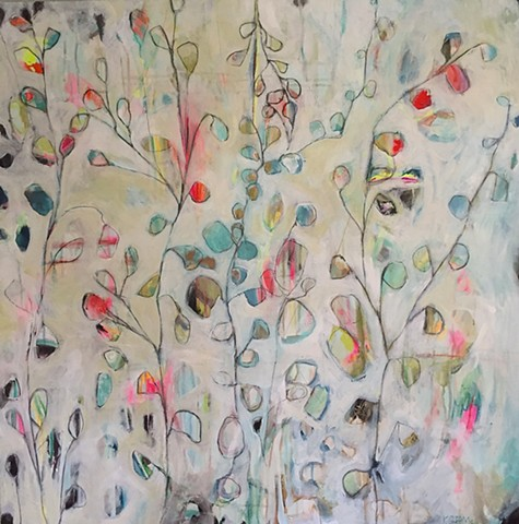 Abstract floral landscape by Atlanta artist Katherine Bell McClure