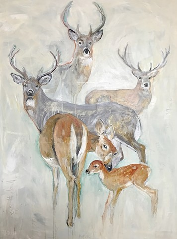 deer paintings by @kmcclureartist Katherine McClure