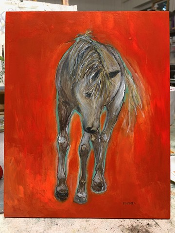Original artwork Horse painting by Katherine Bell McClure