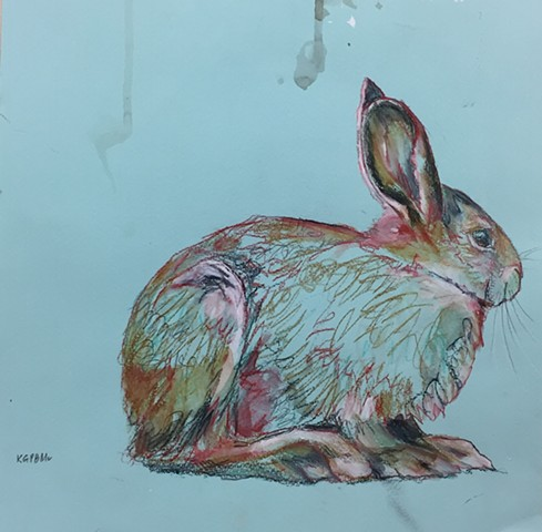 Aqua Rabbit . SOLD