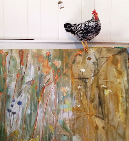 Georgia Artist's Studio Features Chickens Katherine Bell McClure