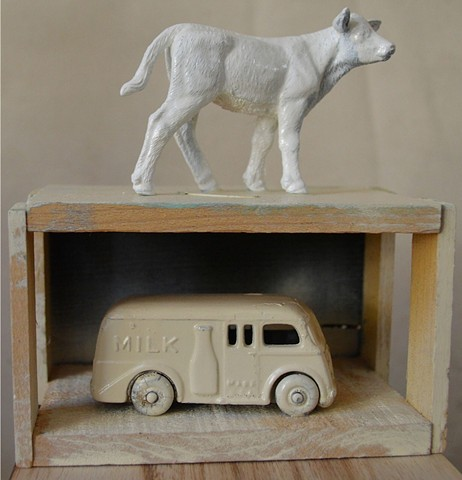 milk truck cow art katherine mcclure kgpbmc sculpture art for sale