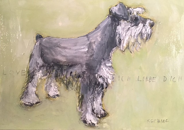 Dog Painting by Katherine Bell McClure @KMcClureArtist