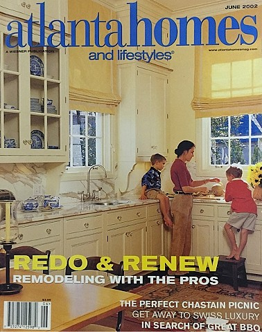 Artwork featured in article of cover home, Atlanta Homes and Lifestyles magazine, 2002