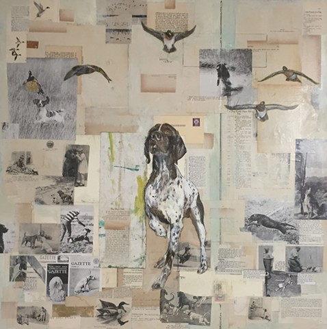 Duck Hunting Bird Dog Painting by Atlanta Artist Katherine Bell McClure KGPBMc