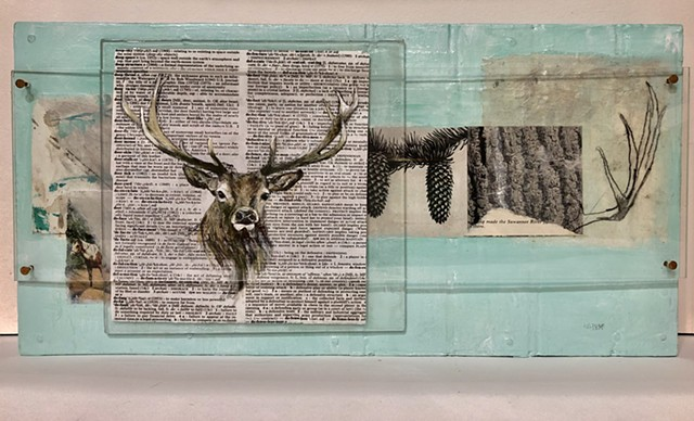 6 point buck contemporary art piece by Atlanta artist Katherine Bell McClure