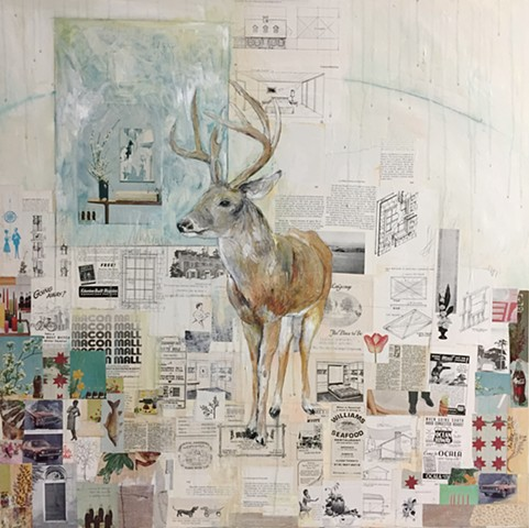deer art painting by Atlanta artist Katherine Bell McClure