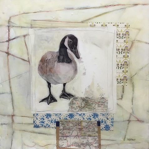 Goose painting by artist, Katherine Bell McClure @KMcClureArtist