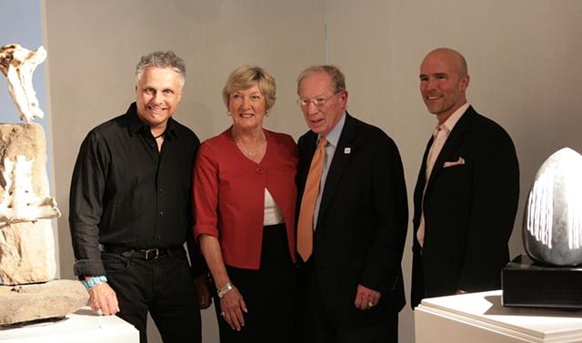 Denis A. Yanashot, Regina Boehm, Dr. Edward G. Boehm, Jr. President of Keystone College, Drake Gomez Director of The Linder Gallery