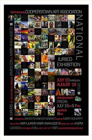 Poster of the Cooperstown Art Association 76th Annual National Exhibition