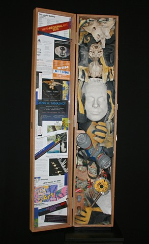 Self portrait mixed media sculpture Denis A. Yanashot