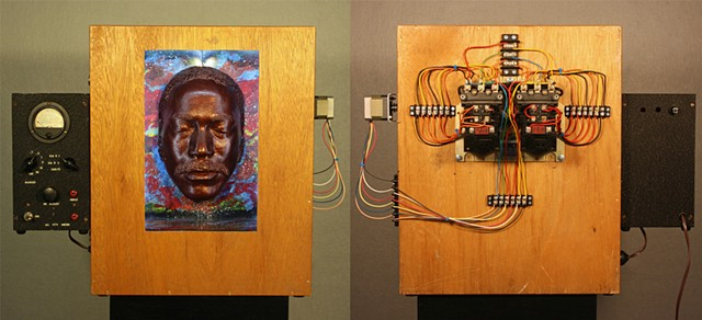 Mixed Media sculpture assemblage soul ready for reincarnation (in transition).