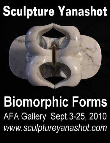 Sculpture Yanashot Biomorphic Forms at Afa Gallery  Sept. 3-25, 2010
