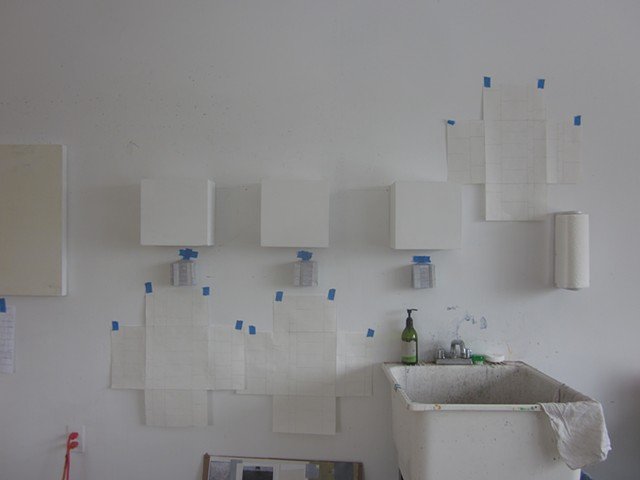 "drawings and paper prototypes  for ""the beach was closed..."""