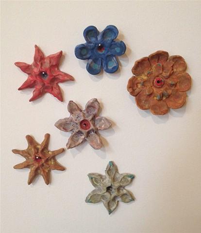 ceramic, clay flower