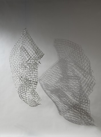metal grid sculpture