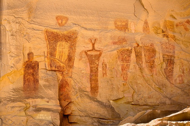 Anthropomorphic Pictograph ~ Barrier Canyon Culture Pictograph ~  Sego Canyon, Utah