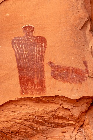Moqui Queen ~ Anthropomorphic Pictograph ~ Barrier Canyon Culture Pictograph ~ Utah