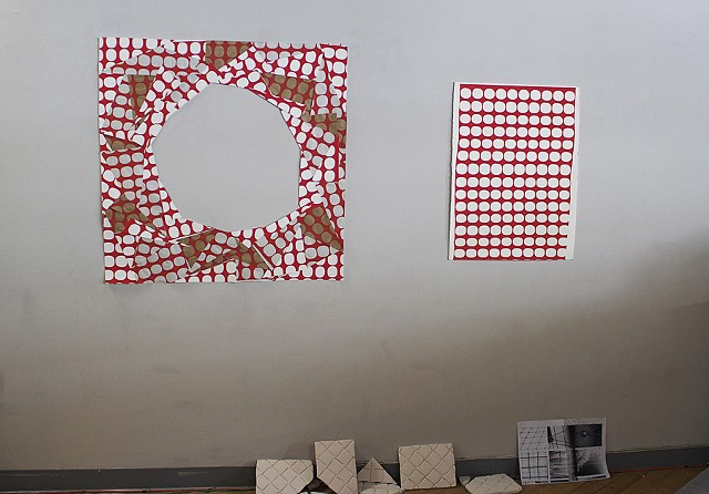 Installation at Spudnik Press for Hubbard Lofts Open House