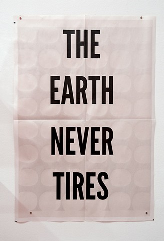 The Earth Never Tires, Poster