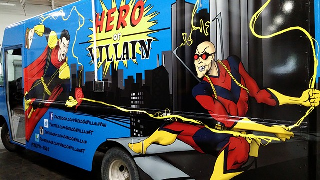 Hero or Villain Van - Driver-Side artwork