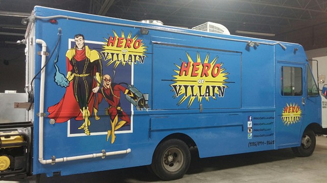 Hero or Villain Van - Service-Side artwork