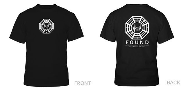 """FOUND"" shirt design"