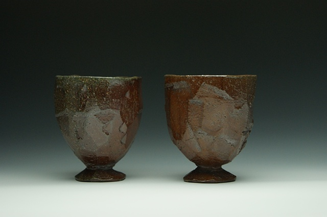 Soda-fired earthenware cups