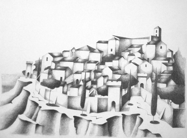 After Image of the Hillside of Todi