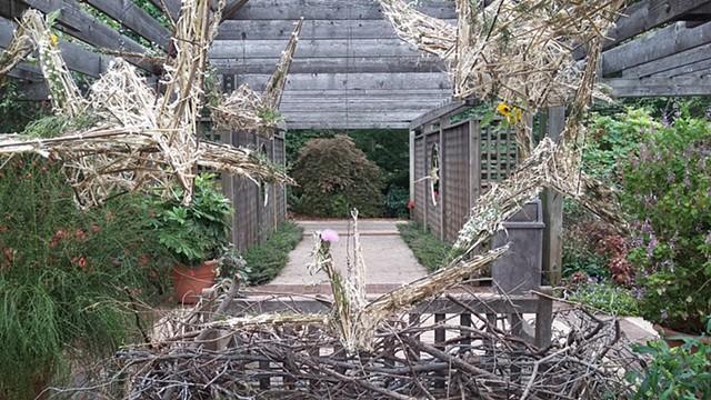 Prairie Origami Cranes and Nest