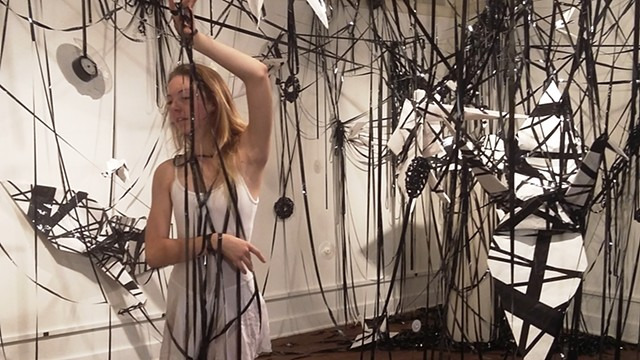 "Installation ""Rewinding (2015)"" Collaboration with Dance and Music"