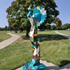 City Bird Keeper  Sarah & Chiyoko Myose  Clapp Memorial Park, Wichita, KS   2020 acrylic on fiberglass 10' tall