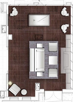 Furniture Plan: Library
