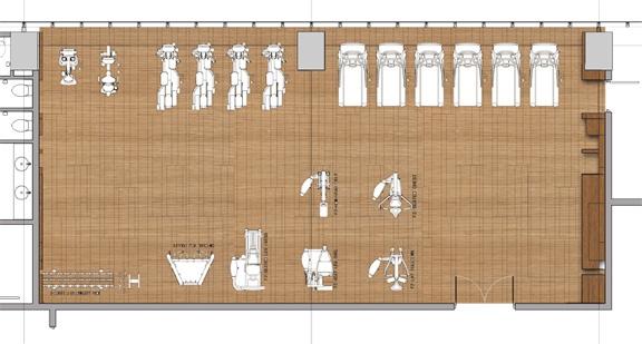 Furniture Plan: Fitness Center