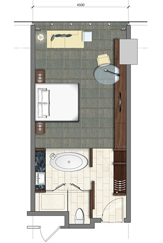 Furniture Plan: Typical Room