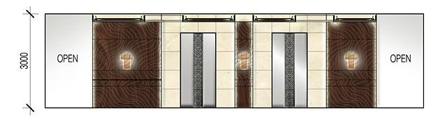 Elevation: Elevator Lobby Typical Floor