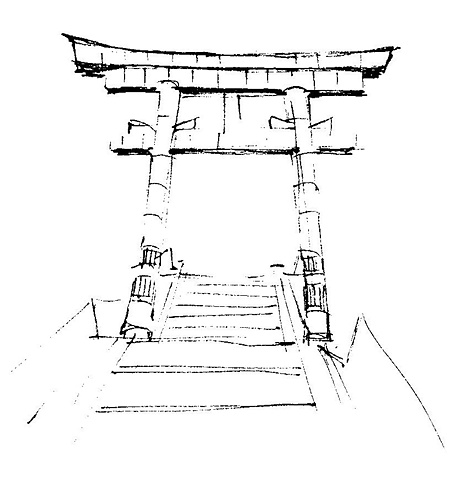 Gate (Yonago Shrine)