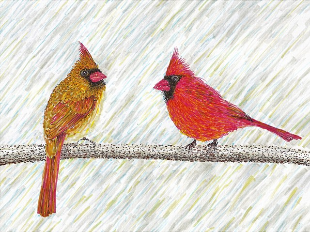 Pair of cardinals on branch