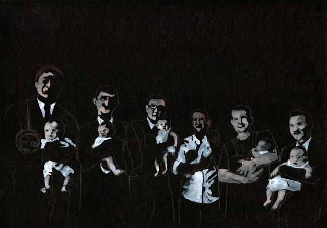 Male Choir, breast feeding.