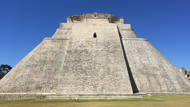 Uxmal pyramid, photograph By Justyn Michael Zolli